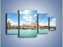 Obraz na płótnie – Canal Grande w Wenecji – czteroczęściowy AM449W4