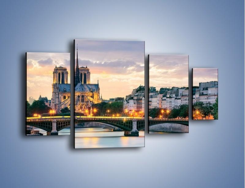 Obraz na płótnie – Katedra Notre Dame – czteroczęściowy AM454W4