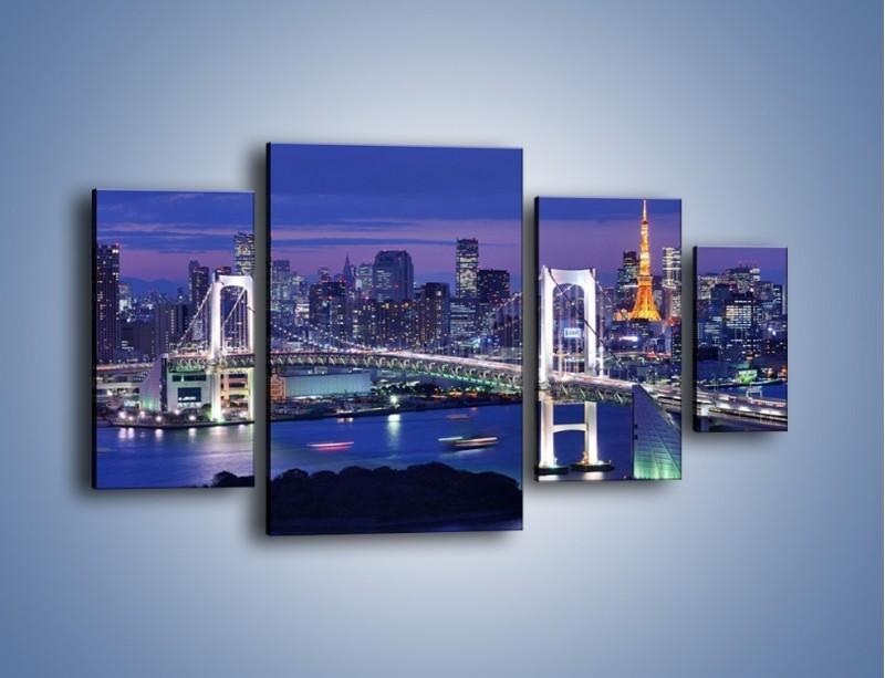 Obraz na płótnie – Tęczowy Most w Tokyo – czteroczęściowy AM460W4