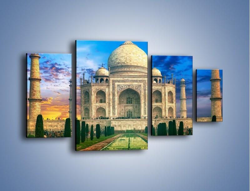 Obraz na płótnie – Tadź Mahal pod niebieskim niebem – czteroczęściowy AM466W4