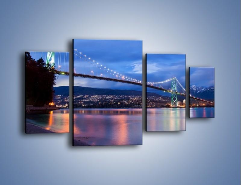 Obraz na płótnie – Most Lions Gate w Vancouver – czteroczęściowy AM471W4