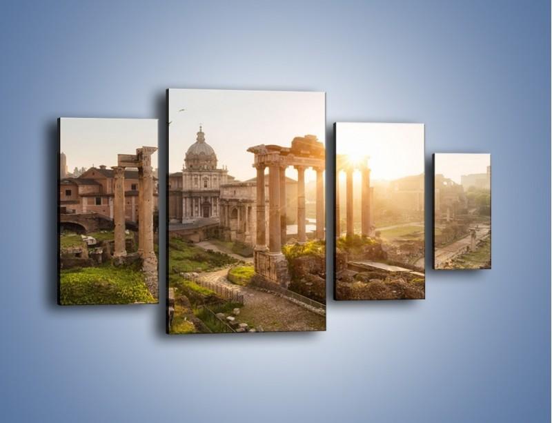 Obraz na płótnie – Rzymskie ruiny o zachodzie słońca – czteroczęściowy AM480W4