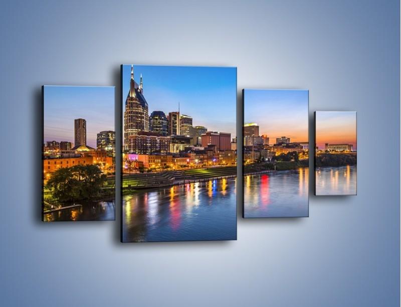 Obraz na płótnie – Nashville nad rzeką Cumberland – czteroczęściowy AM491W4