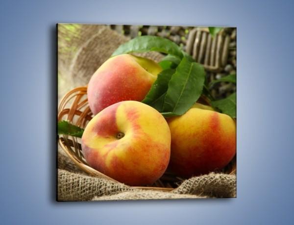 Obraz na płótnie – Dojrzałe jabłka w koszu – jednoczęściowy kwadratowy JN390