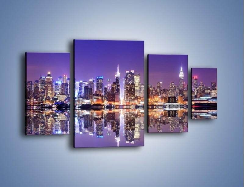 Obraz na płótnie – Panorama Midtown Manhattan – czteroczęściowy AM492W4