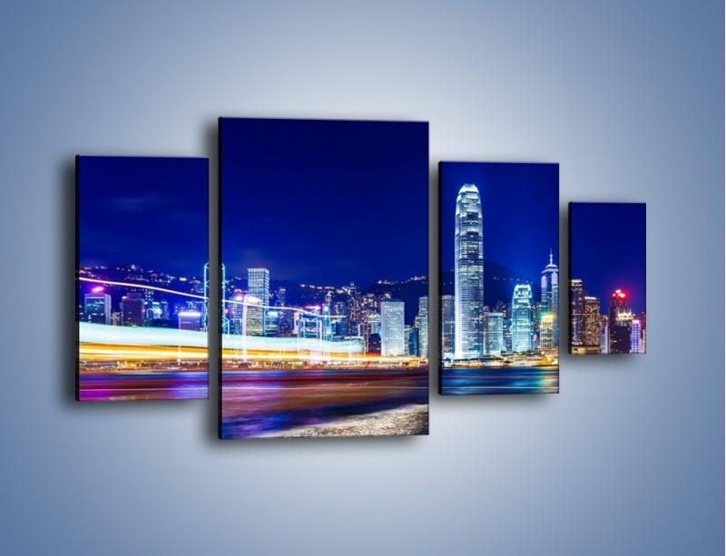 Obraz na płótnie – Panorama Hong Kongu – czteroczęściowy AM499W4
