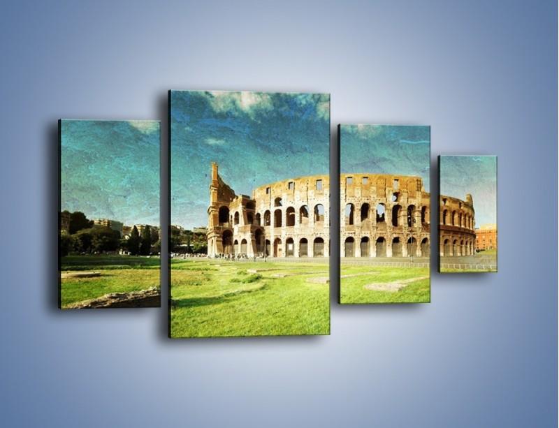 Obraz na płótnie – Koloseum w stylu vintage – czteroczęściowy AM503W4