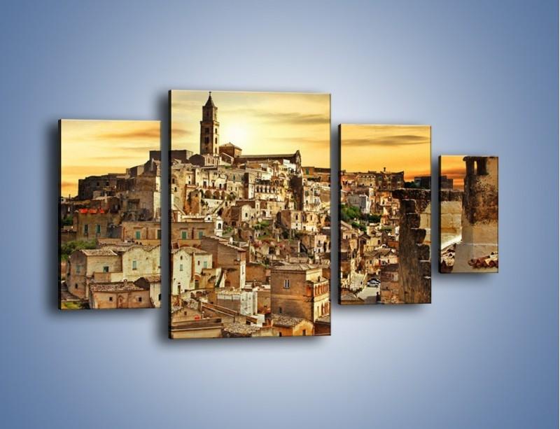 Obraz na płótnie – Matera – miasto wykute w skale – czteroczęściowy AM517W4