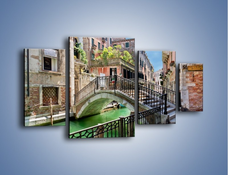 Obraz na płótnie – Wenecki most – czteroczęściowy AM523W4