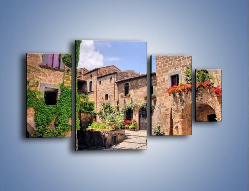 Obraz na płótnie – Romantyczna uliczka we Włoszech – czteroczęściowy AM533W4