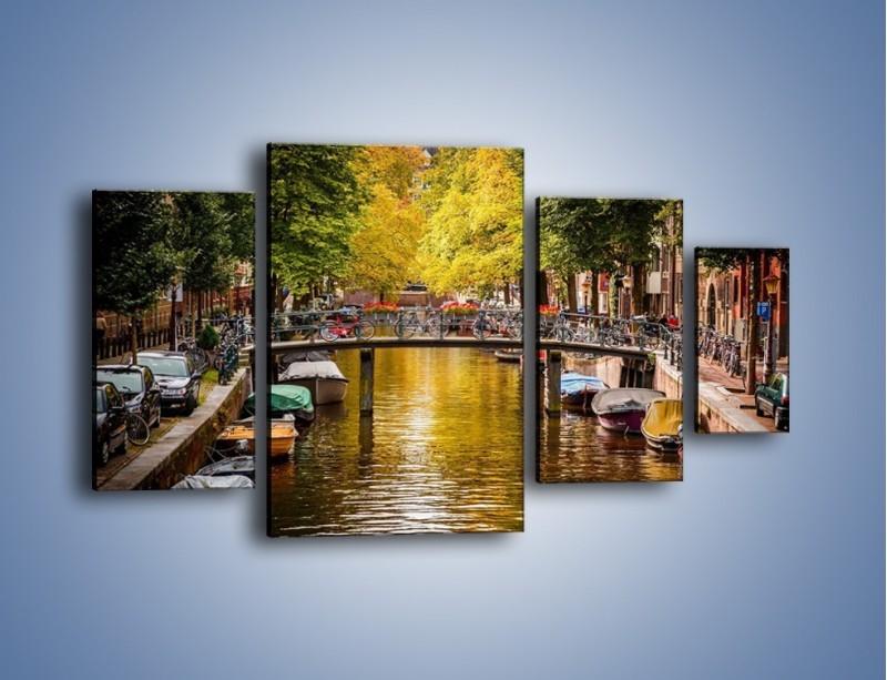 Obraz na płótnie – Most nad amsterdamskim kanałem – czteroczęściowy AM552W4