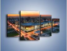 Obraz na płótnie – Centrum kongresowe CNCC w Chinach – czteroczęściowy AM575W4