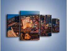 Obraz na płótnie – Centrum Las Vegas – czteroczęściowy AM588W4