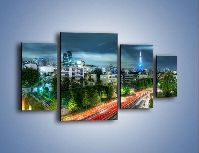 Obraz na płótnie – Miasto Roppongi w Japonii – czteroczęściowy AM593W4