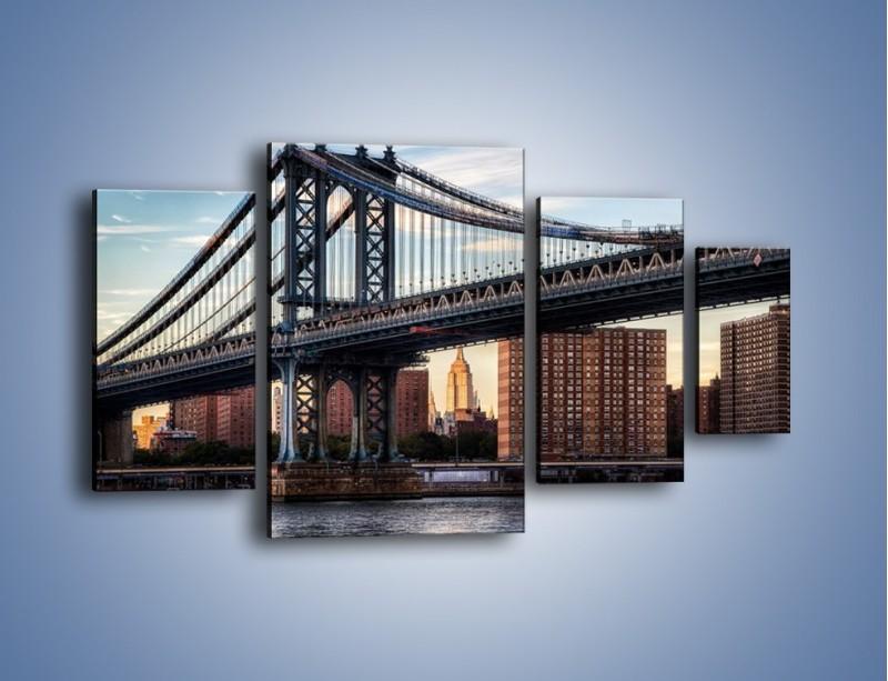 Obraz na płótnie – Manhattan Bridge – czteroczęściowy AM607W4