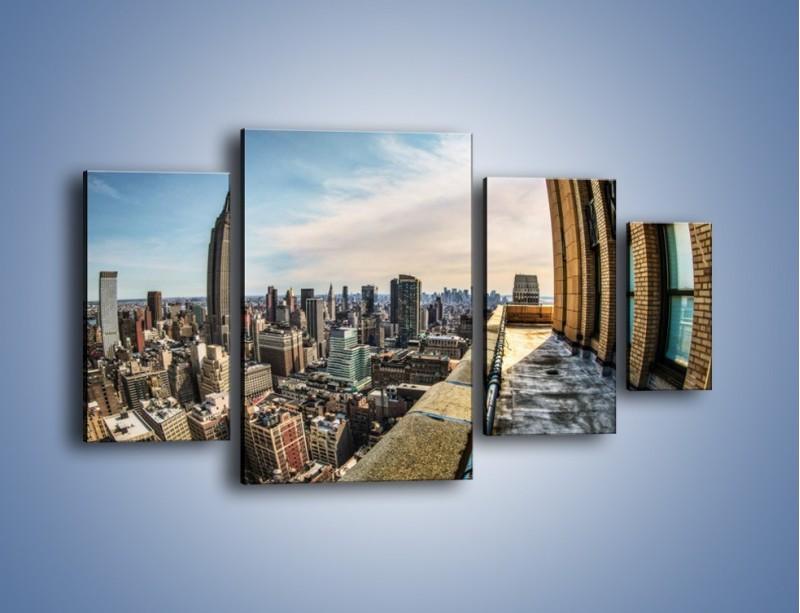 Obraz na płótnie – Empire State Building na Manhattanie – czteroczęściowy AM610W4