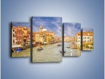 Obraz na płótnie – Canal Grande w Wenecji o poranku – czteroczęściowy AM617W4