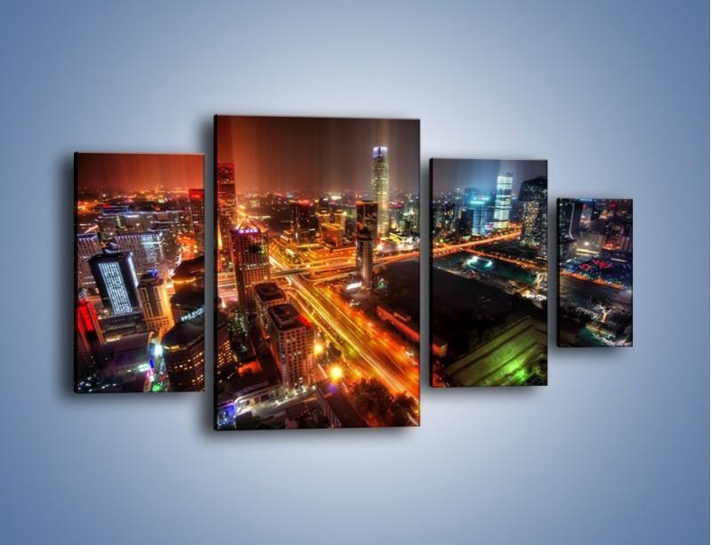 Obraz na płótnie – Niesamowite kolory Pekinu – czteroczęściowy AM632W4