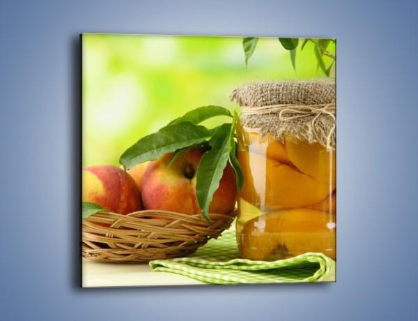 Obraz na płótnie – Jabłka w syropie – jednoczęściowy kwadratowy JN391