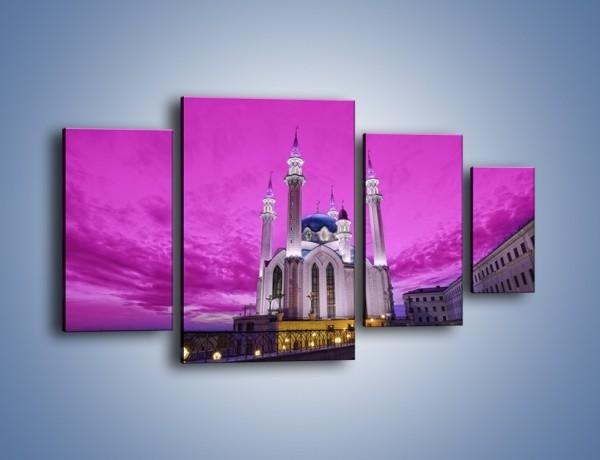 Obraz na płótnie – Meczet Kul Szarif – czteroczęściowy AM642W4