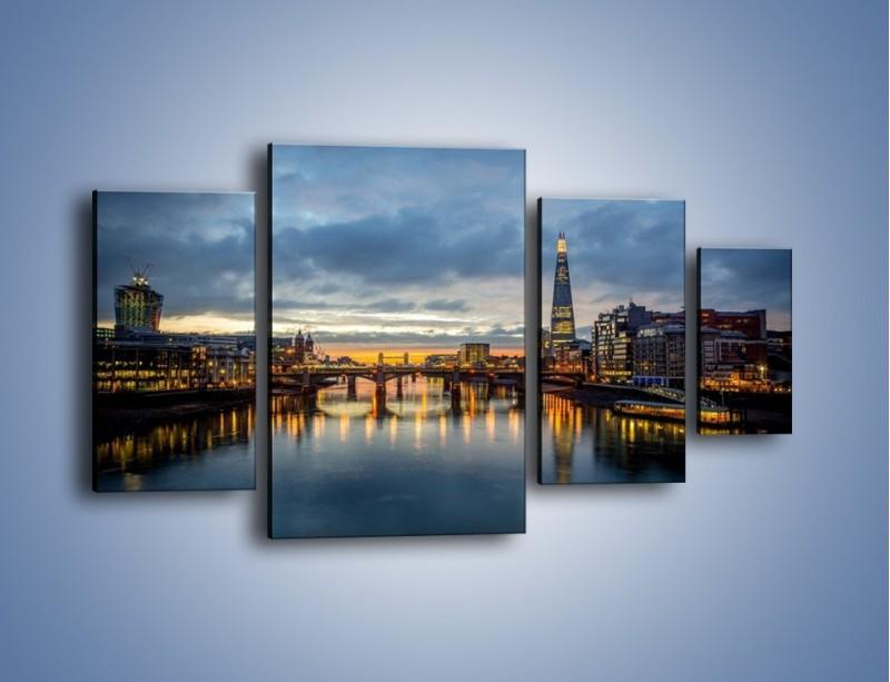 Obraz na płótnie – Millennium Bridge w Londynie – czteroczęściowy AM651W4
