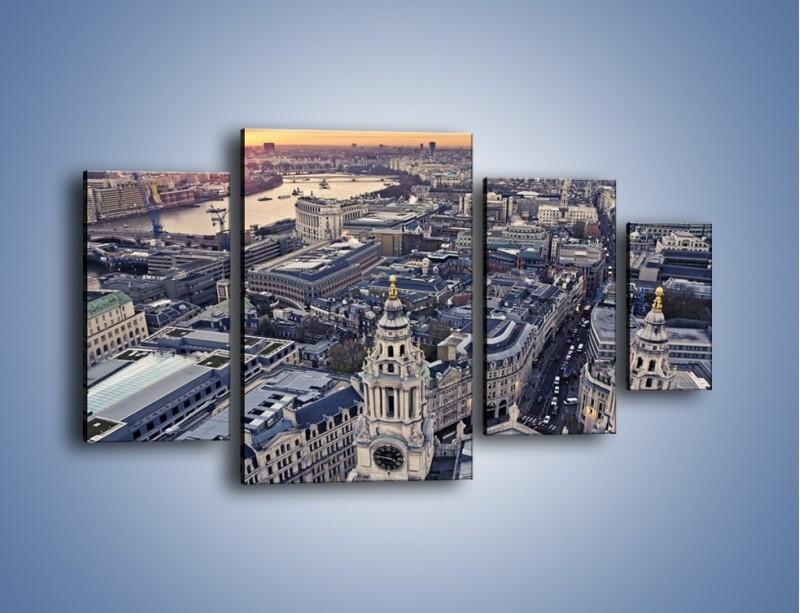 Obraz na płótnie – Widok na Londyn z Katedry św. Pawła – czteroczęściowy AM652W4