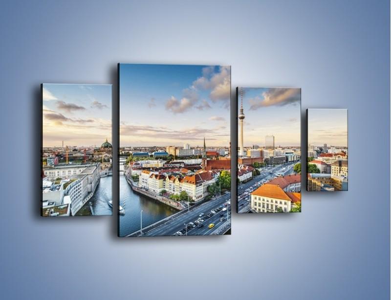 Obraz na płótnie – Panorama Berlina – czteroczęściowy AM673W4