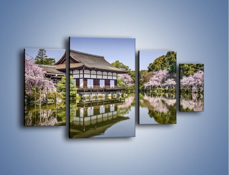 Obraz na płótnie – Świątynia Heian Shrine w Kyoto – czteroczęściowy AM677W4