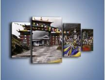 Obraz na płótnie – Brama do miasta Tawang w Tybecie – czteroczęściowy AM689W4