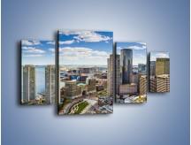 Obraz na płótnie – Boston w stanie Massachusetts – czteroczęściowy AM700W4