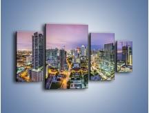 Obraz na płótnie – Centrum Miami – czteroczęściowy AM702W4