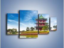 Obraz na płótnie – Chiński ogród w Singapurze – czteroczęściowy AM715W4