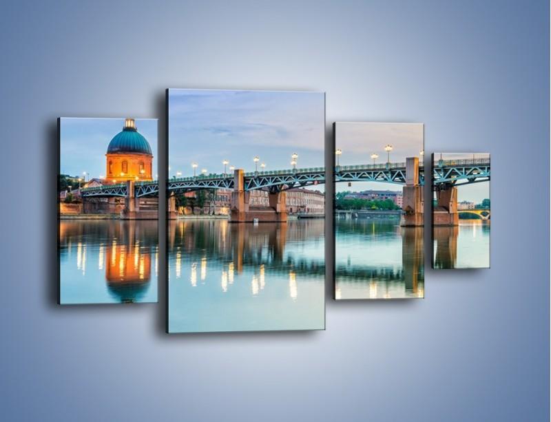 Obraz na płótnie – Most Saint-Pierre w Tuluzie – czteroczęściowy AM721W4