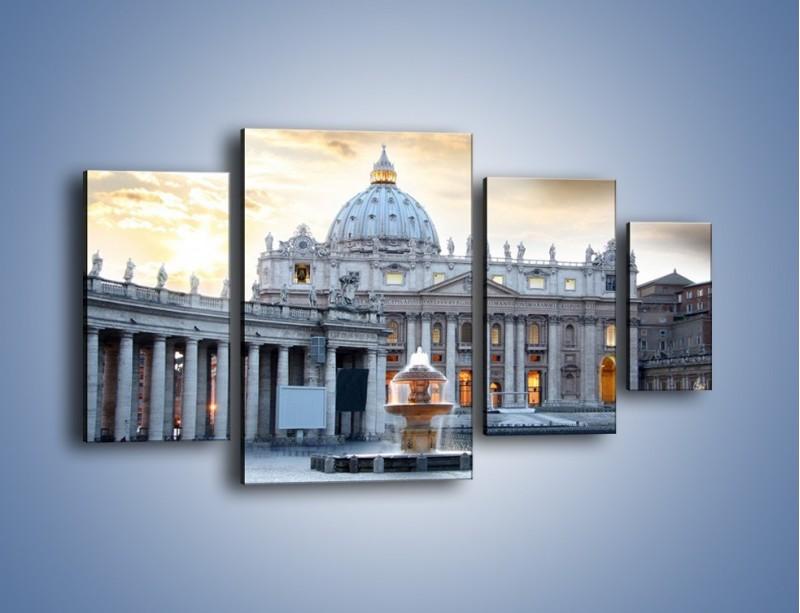 Obraz na płótnie – Bazylika św. Piotra w Watykanie – czteroczęściowy AM722W4