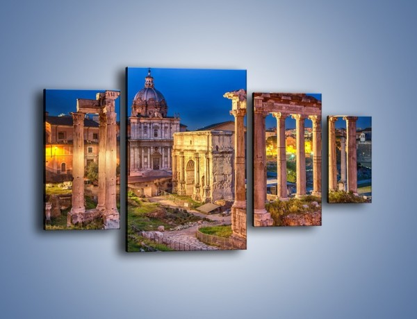 Obraz na płótnie – Ruiny Forum Romanum w Rzymie – czteroczęściowy AM730W4