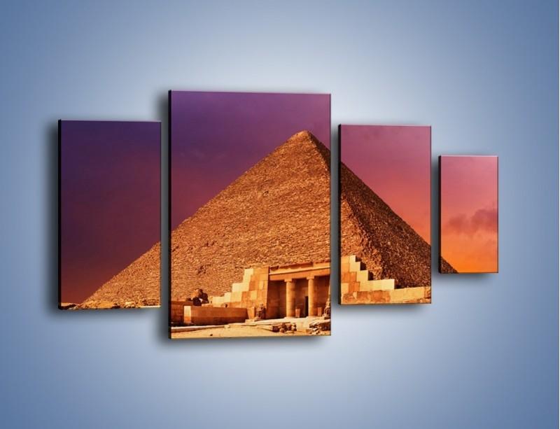 Obraz na płótnie – Piramida w Egipcie – czteroczęściowy AM812W4