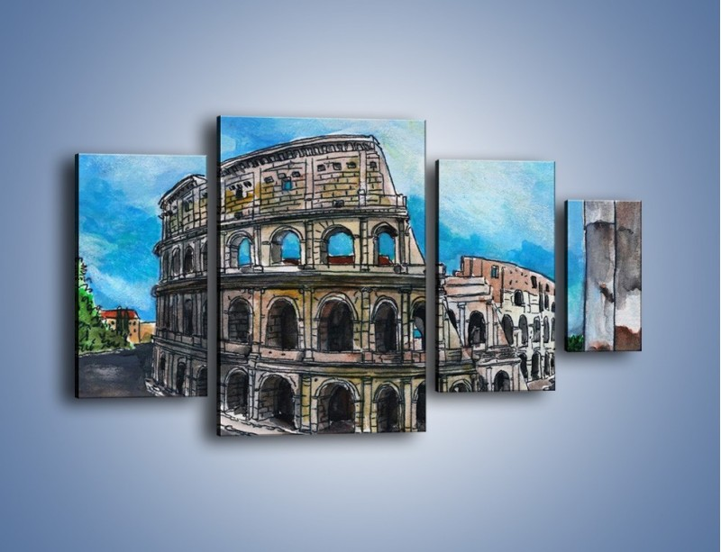 Obraz na płótnie – Znana budowla z bliska – czteroczęściowy GR039W4