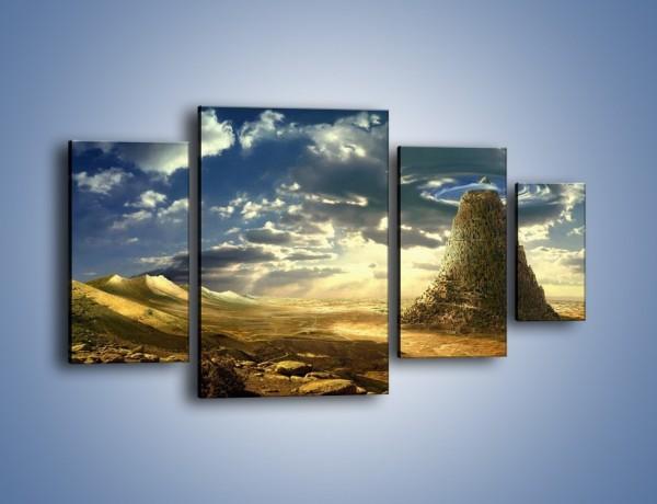 Obraz na płótnie – Przez górę aż do chmur – czteroczęściowy GR139W4