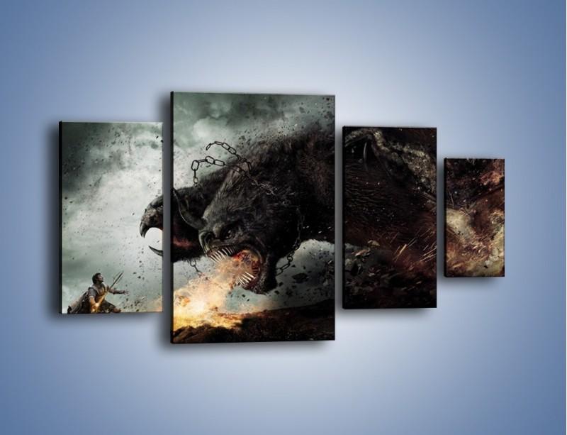 Obraz na płótnie – Groźny podmuch potworów – czteroczęściowy GR174W4