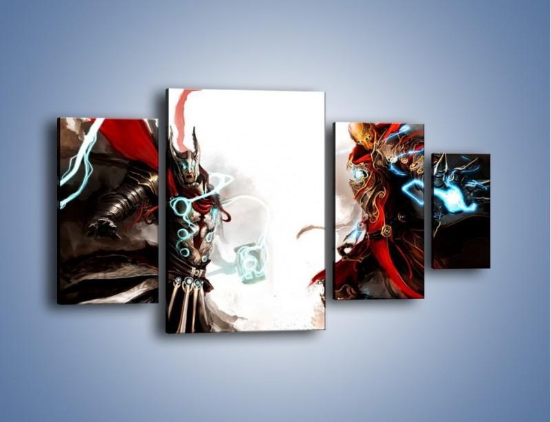 Obraz na płótnie – Walka z potężną siłą – czteroczęściowy GR207W4