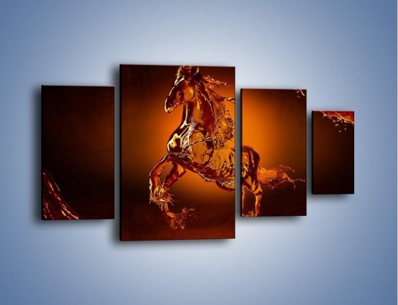 Obraz na płótnie – Wodny koń w mocnym świetle – czteroczęściowy GR228W4
