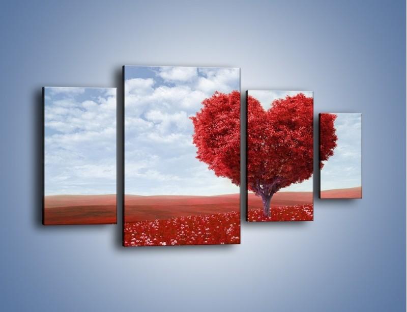 Obraz na płótnie – Polaną w stronę miłości – czteroczęściowy GR249W4