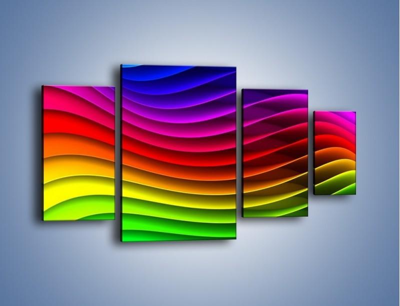 Obraz na płótnie – Falą w kolorze – czteroczęściowy GR393W4