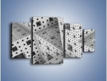 Obraz na płótnie – Budynki z klocków – czteroczęściowy GR410W4
