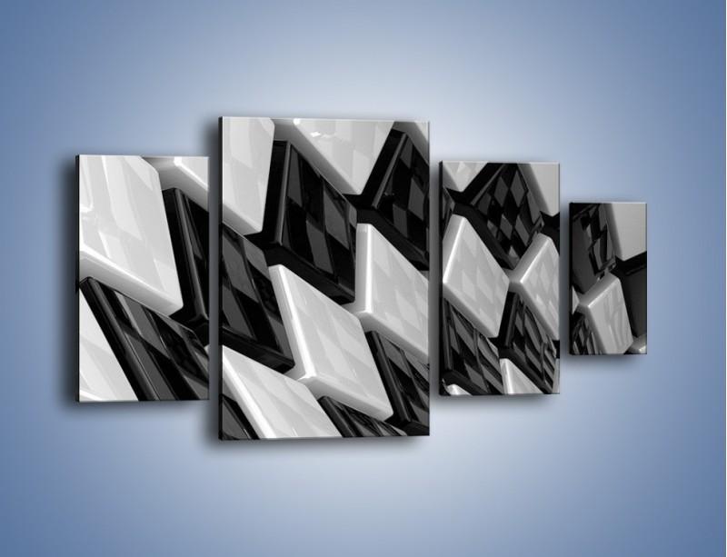Obraz na płótnie – Czarne czy białe – czteroczęściowy GR425W4