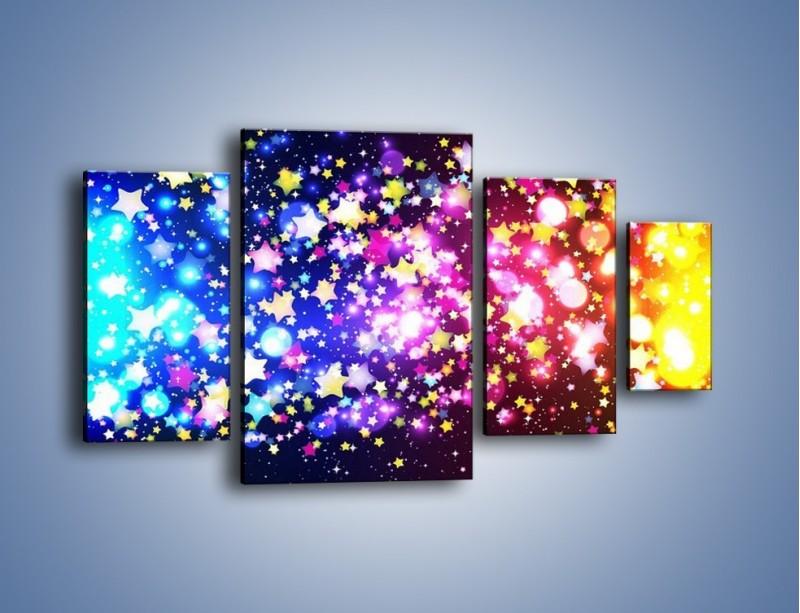 Obraz na płótnie – Kolory widziane nocą – czteroczęściowy GR432W4