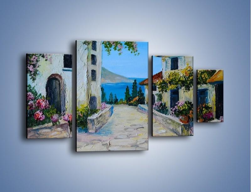 Obraz na płótnie – Urok włoskich uliczek – czteroczęściowy GR459W4
