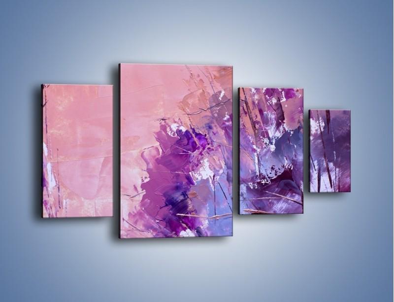 Obraz na płótnie – Mocna barwa fioletu – czteroczęściowy GR472W4
