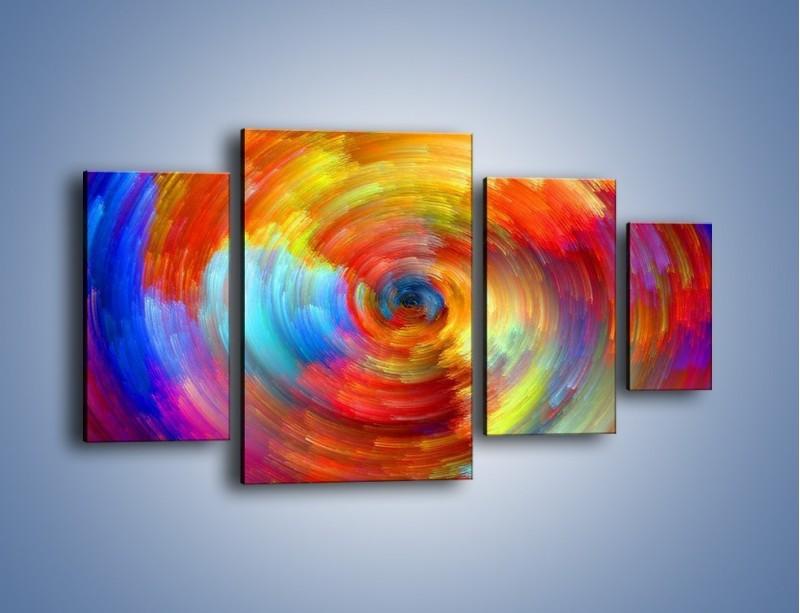 Obraz na płótnie – Kolorowy wir – czteroczęściowy GR502W4