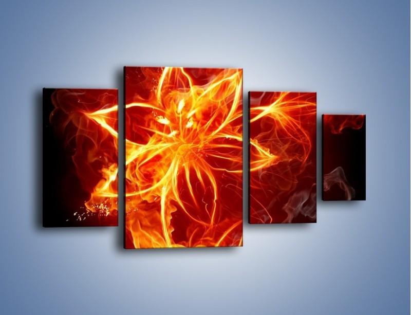 Obraz na płótnie – Spłonąć jak kwiat – czteroczęściowy GR527W4